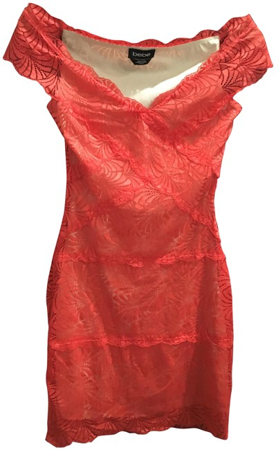 Item - Orange Lace Short Night Out Dress Size 00 (XXS)