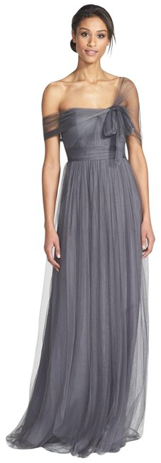 Item - Shadow Grey Annabelle Tulle Convertible Gown Long Formal Dress Size 10 (M)