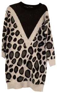 Brave Soul short dress Black and Grey Leopard Print on Tradesy