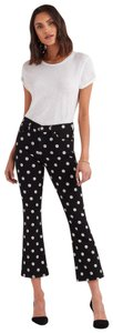 7 For All Mankind High Waisted Poka Dot Cropped White Skinny Jeans