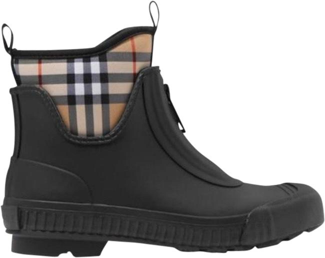 Item - Check Canvas Trimmed Rubber Rain Boots/Booties Size EU 35 (Approx. US 5) Regular (M, B)