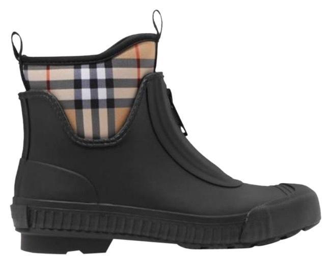 Item - Check Canvas Trimmed Rubber Rain Boots/Booties Size EU 36 (Approx. US 6) Regular (M, B)