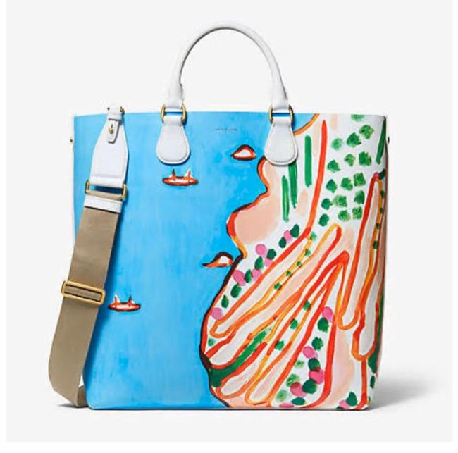 Michael Kors Collection Runway Dandridge Christina Zimpel Blue / Coast Tote Michael Kors Collection Runway Dandridge Christina Zimpel Blue / Coast Tote Image 1