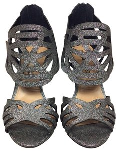 Audrey Brooke Metallic Pewter Formal