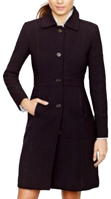 Item - Black with Red and Yellow Lining Doublecloth Thinsulated Wool Coat Size 6 (S)