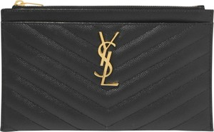 Saint Laurent Clutch Pouch Black Leather