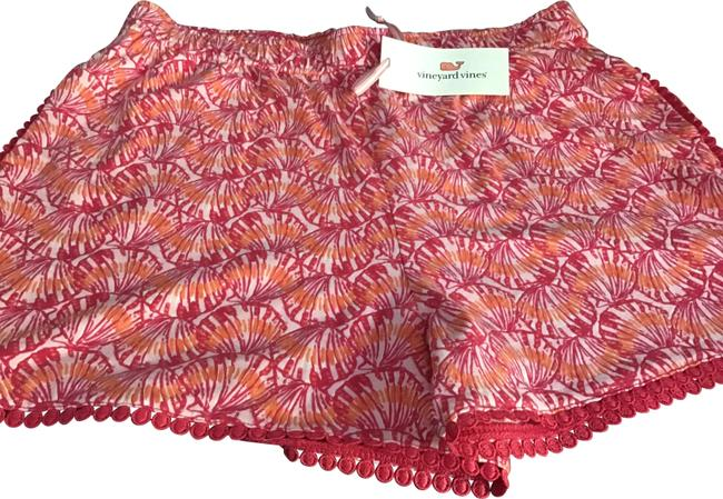 Item - Pink Tulip Shell Print Pull-on Shorts Size 14 (L, 34)