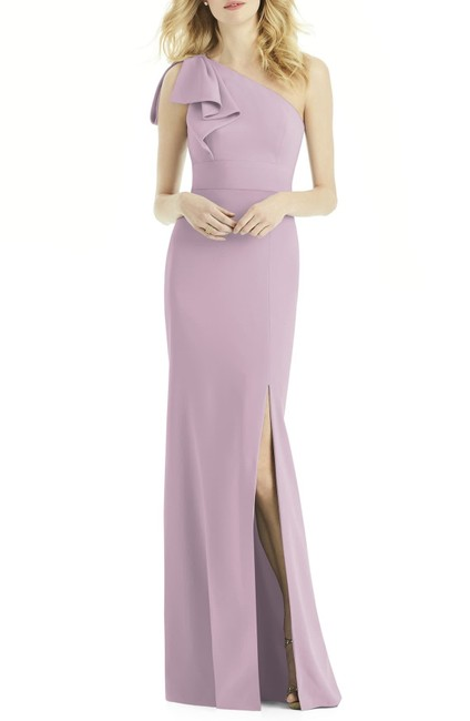 Item - Suede Rose 6769 Bow One Shoulder Trumpet Gown Long Formal Dress Size 10 (M)