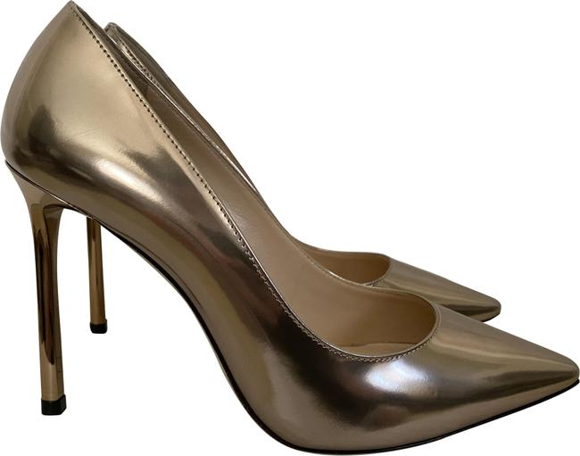 Item - Rose Gold Romy Liquid Mirror Leather Pointed Pumps Size EU 36 (Approx. US 6) Regular (M, B)