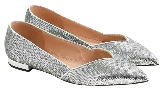 Item - Silver Gwen Pointed D'orsay Sequin Flats Size US 9.5 Regular (M, B)