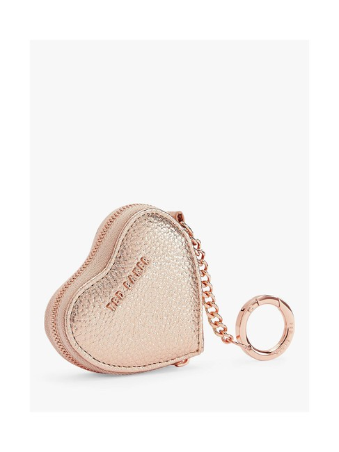 Item - Rose Gold London Kahi Leather Coin Case Charm Fob Keychain Wallet