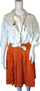 Moulinette Soeurs Cotton Rayon Skirt Orange