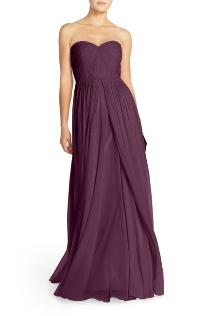 Item - Black Currant Mira Strapless Convertible Chiffon Gown Long Formal Dress Size 12 (L)