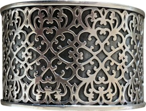 Silpada Silpada Sterling Silver Wide Cuff Bracelet Filigree Scroll