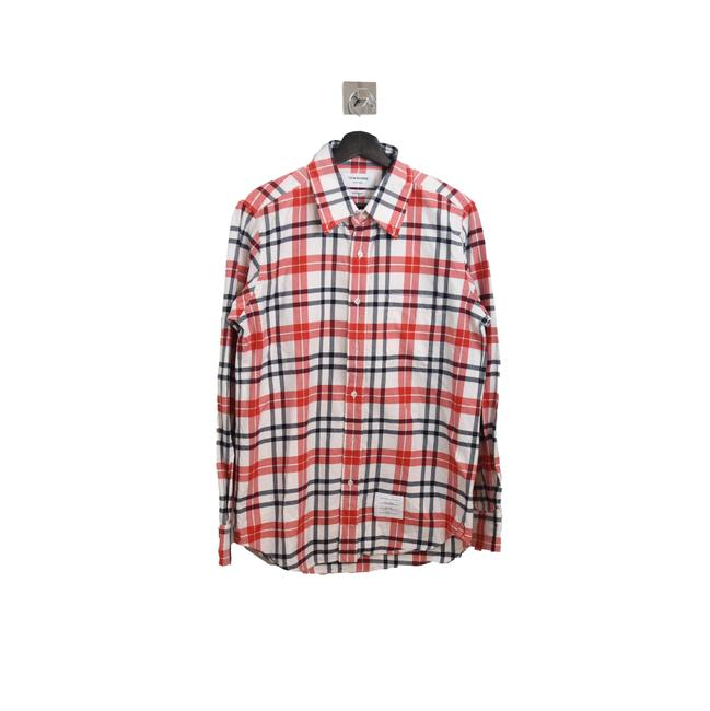 Item - Red White Checked Shirt Button-down Top Size 2 (XS)