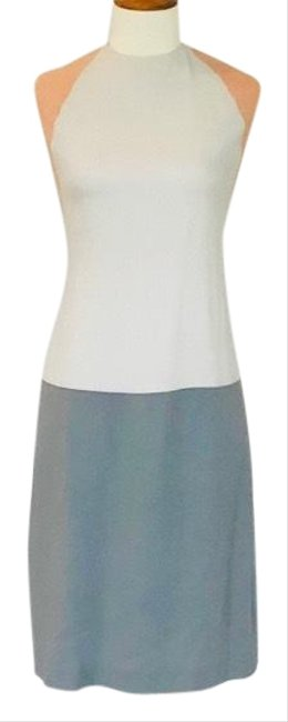 Item - Gray/Beige Francisco Costa For Color Block Mid-length Work/Office Dress Size 6 (S)