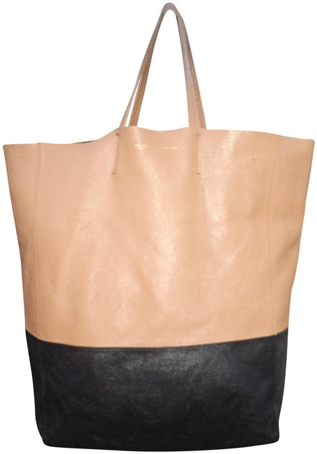Item - Cabas Vertical Two Nice Tan Lambskin Leather Tote
