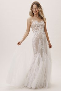 Watters Ivory Nude Tulle Capricorn 52715 Willowby Bhldn Feminine Wedding Dress Size 14 (L)