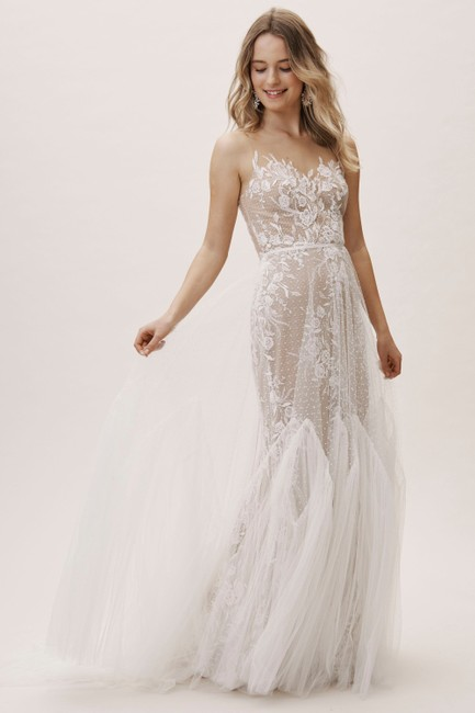Item - Ivory Nude Tulle Capricorn 52715 Willowby Bhldn Feminine Wedding Dress Size 14 (L)