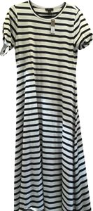 Navy and White Striped Maxi Dress by J.Crew New Summer