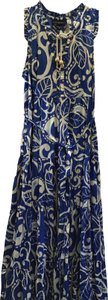 Blue and White Floral Maxi Dress by Lane Bryant