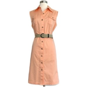 Alex Marie short dress Coral Safari Belted Button Front on Tradesy