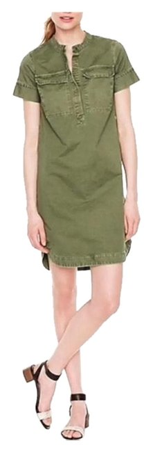 Item - Olive Green Military Mid-length Short Casual Dress Size 6 (S)