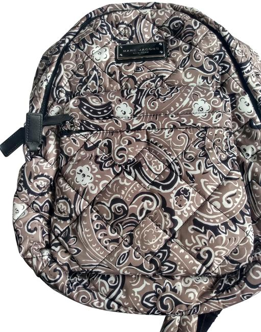 Item - Quilted Paisley Grey Nylon Backpack