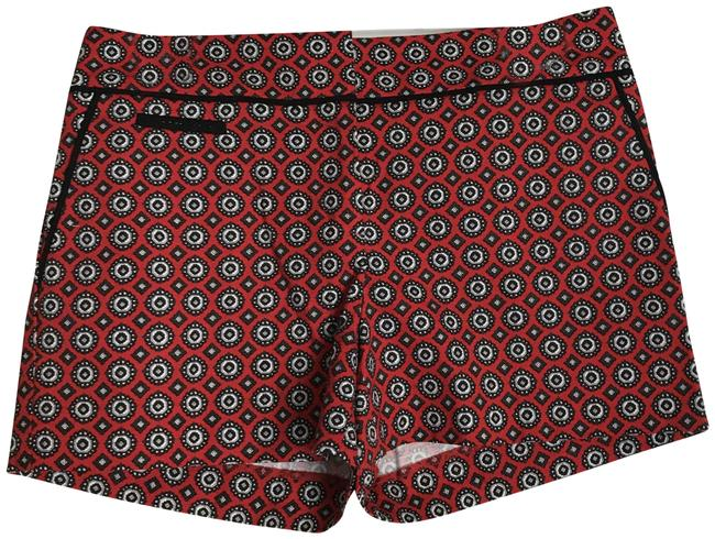 Item - Multi Color New Geometric Red/Navy/White Stretch In 4p. Shorts Size Petite 4 (S)