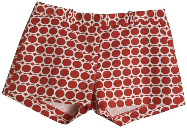 Item - Red/White Red/White Geometric Print In Shorts Size 6 (S, 28)