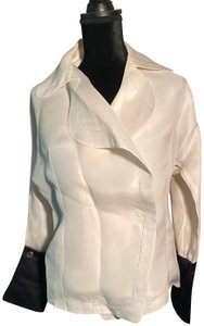 Gianfranco Ferre Top Ivory Linen