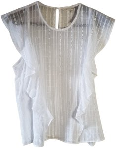 Rachel Roy Embroidered Top White