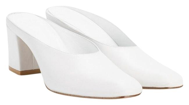 Item - White Mules/Slides Size EU 38.5 (Approx. US 8.5) Regular (M, B)