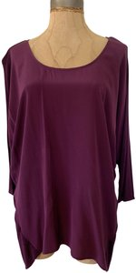 Matty M Silk Pullover Wine Color Casual Wear-to-work Top Burgundy