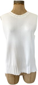 Topshop Crew-neck Sleeveless Pullover Sweater Wear-to-work Top white