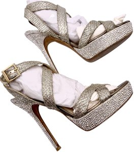 Jimmy Choo Glitter Silver Formal