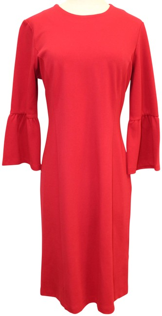 Item - Red Bell Sleeve Short Work/Office Dress Size 12 (L)