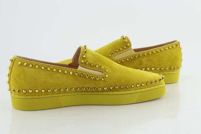 Item - Yellow Pik Boat Flat Shoes