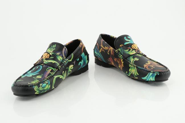 Item - Multi Color Acid Baroque Print Leather Loafers Shoes
