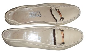 Salvatore Ferragamo Formal Loafer Beige Flats