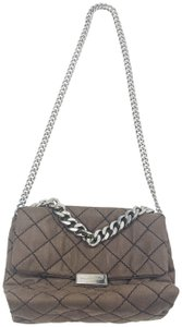 Stella McCartney Quilted Chains Taupe Blush Shoulder Bag