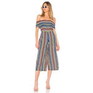 House of Harlow 1960 Striped Off The Shoulder Rainbow Dress