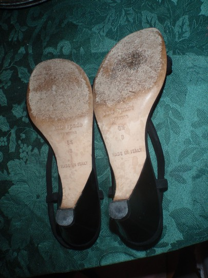 Kate Spade Open Toes High Heels Formal Church Black Sandals
