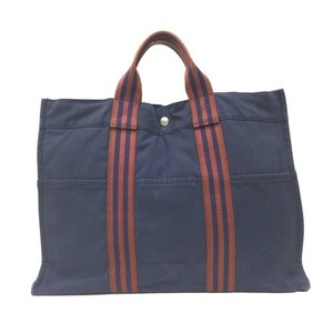Hermes Tote in Brown / Navy