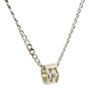 Gucci Gucci Necklace Silver G Ring Men Women Accessories 409336 RYB5767