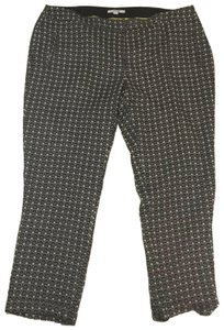 Boden Long Tall Wool Trouser Pants Black and White