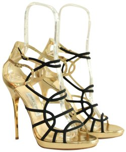 Jimmy Choo High Heels Gold and Black Formal