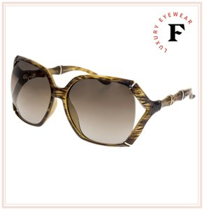 Gucci Bamboo GG3508S Translucent Brown Horn Gradient Sunglasses 3508 0505