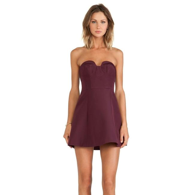 Item - Purple XS The Label Revolve Hearts On Fire Mini Strapless Short Casual Dress Size 0 (XS)