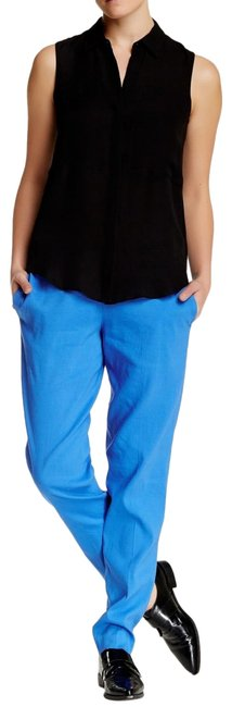 Item - Blue Small Neal Italian Linen Blend Ease On Marina Pocket Pants Size 6 (S, 28)